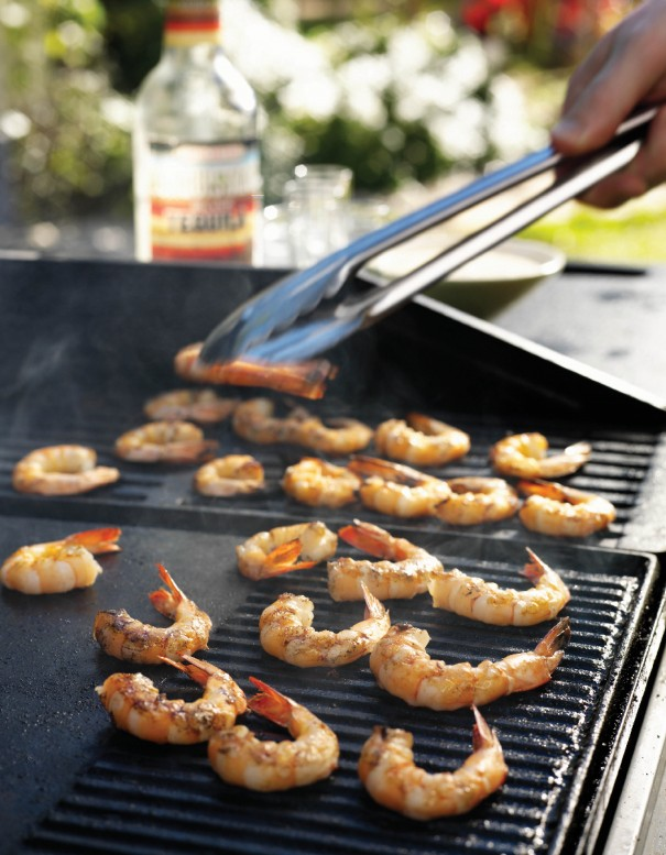 BBQ recipe - grilled Prawns